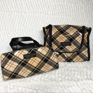 Kenneth Cole Reaction Plaid Travel Bag Set Of Two